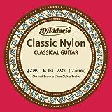 D'Addario Corde d'étude seule en nylon pour guitare classique D'Addario J2701, Normal, première corde