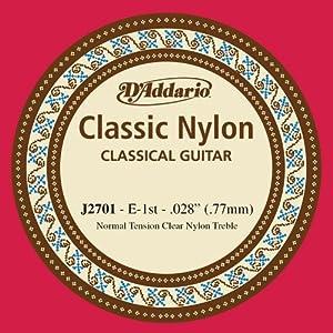 Cuerdas sueltas para guitarra clásica Son útiles para principiantes, estudiantes y profesionales Ofrecen un sonido cálido e un tono de larga duración Las cuerdas están hechas de nilón