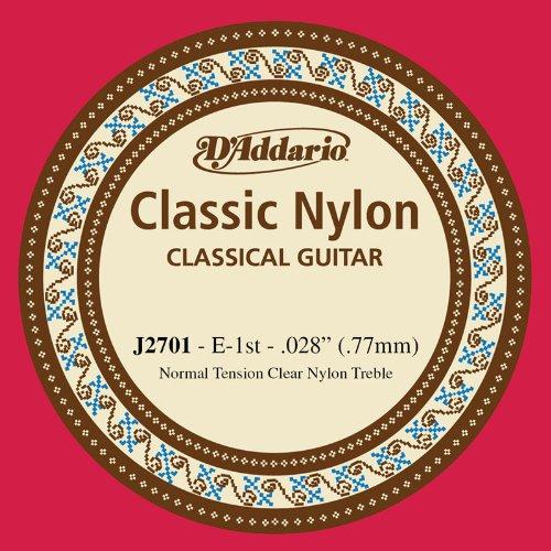 D'Addario J2701, cuerda individual de nailon para guitarra clásica, nivel principiante, tensión normal, primera cuerda