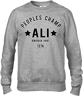 Ali The Greatest Rumble in The Jungle Boxing Premium Men's Grey Crew Sweatshirt