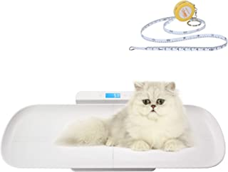 مقیاس پذیری BYKAZATY با اندازه گیری نوار، مقیاس وزن چند تابع، مقیاس وزن نوزاد با سینی ارتفاع (حداکثر 70cm)، اندازه گیری دقیق وزن (حداکثر: 220lb)، مناسب برای کودک نو پا / توله سگ / گربه / سگ / بزرگسالان
