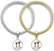 DIYthinker Singapore Gardens by The Bay Lover Couple Bracelet Pendant Jewelry Chain