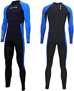 Full Body Dive Wetsuit Sports Skins Rash Guard for Men Women, UV Protection Long Sleeve One Piece Swimwear for Snorkeling ...