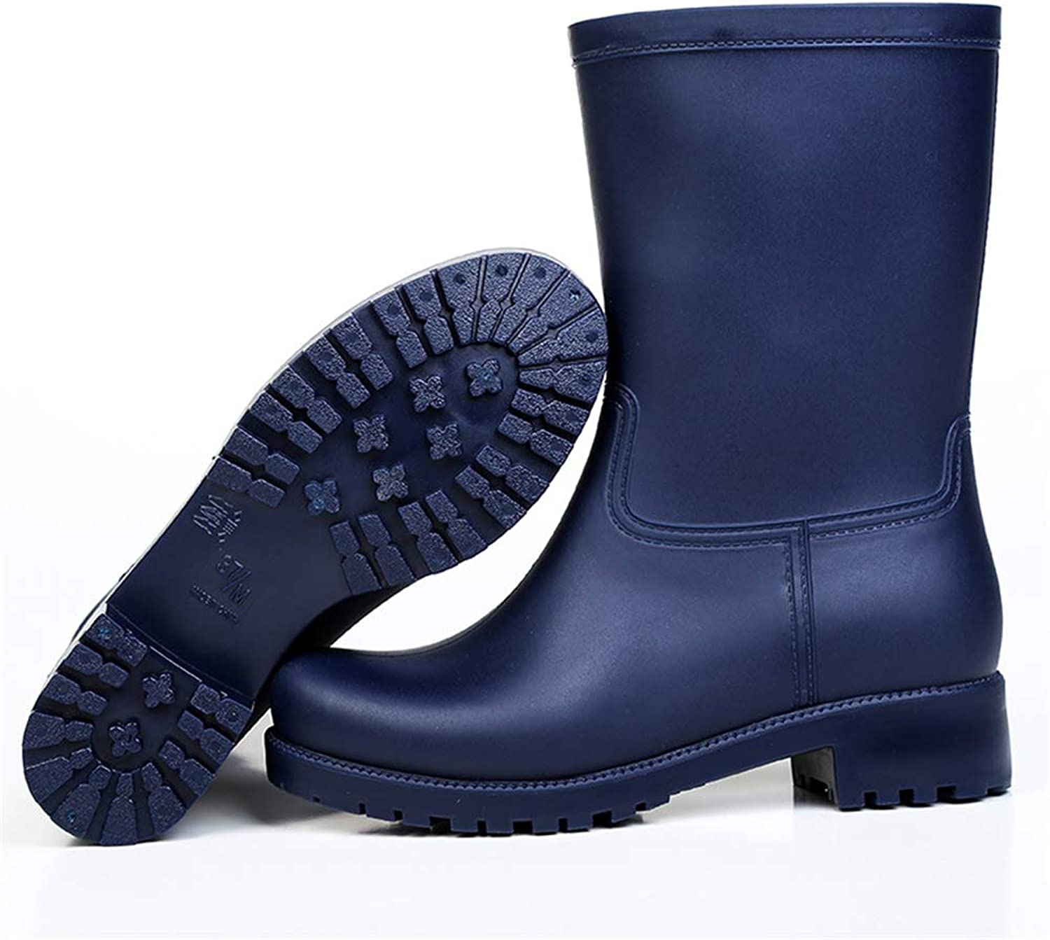 Fancyww Women's Thick Solid color Non-Slip Waterproof rain Boots