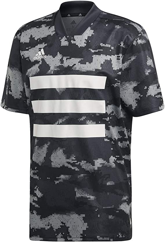 Amazon.co.jp: adidas Men's Tan AOP Jersey - Black - Medium ...