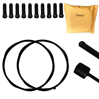 Yuauy - 2 Cables de Cambio de teflón de Acero Inoxidable de 2100 mm para Bicicleta de montaña y Carretera de montaña y 10 Piezas de Cable de aleación de Color Negro