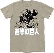 Ripple Junction Attack on Titan Season 3 Adult Unisex Levi Titan Seal Pigment Dye Heavy Weight 100% Cotton Crew T-Shirt