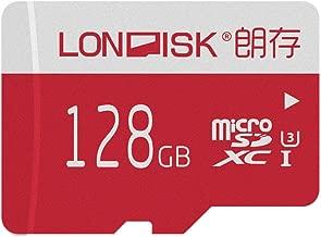 LONDISK 128GB Micro SD Card 4K U3 SDXC Memory Card for Drone/Dash Cam/GoPro Hero7 / Memory Card 128 GB with Free Adapter(U3 128GB)