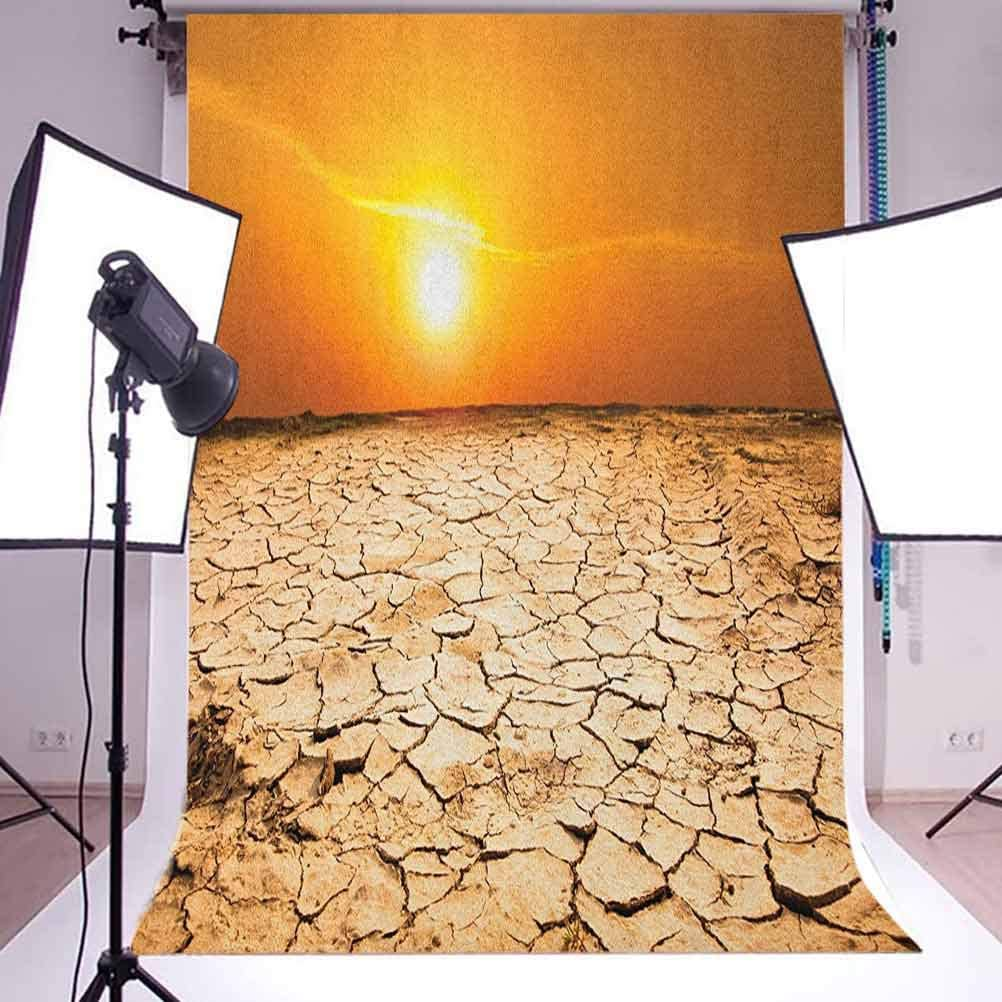8x12 FT Desert Vinyl Photography Background Backdrops,Drought Land and Hot Weather Climate Theme Sun Arid Country Landscape Background for Photo Backdrop Studio Props Photo Backdrop Wall