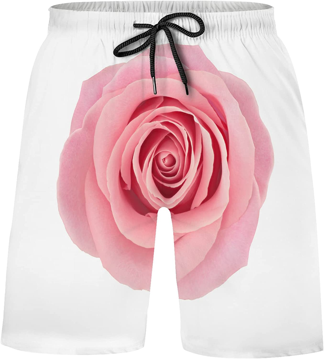 Coral Roses Product Flower On White Bathing Suits Swim Shorts Miami Mall T Athletic
