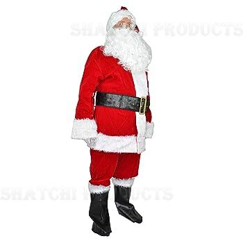 GoodsOnline24/7 Disfraz navideño de Papá Noel, de Terciopelo, 8 ...
