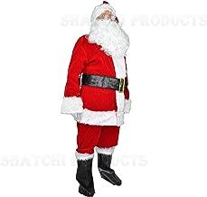 Deluxe Babbo Natale Mantello Costume Natale Natale Claus Padre Uomo Costume NUOVO