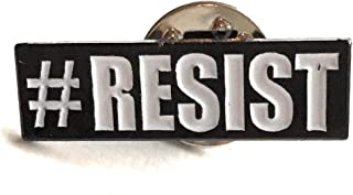 #RESIST Lapel Pin Black With White Lettering RESIST Protest Badge