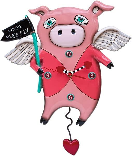 Allen Designs When Pigs Fly Pendulum Clock