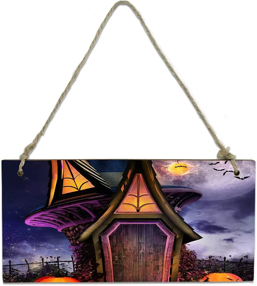 Wood Plaque Wall Hanging Sign for Financial sales sale Pum Halloween High quality Bathroom Kitchen