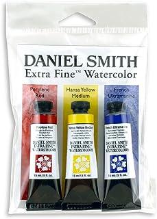 DANIEL SMITH Extra Fine Primary Watercolor Set, 3 Tubes, 15ml