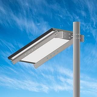 Newpowa Universal Solar Panel Heavy Duty Double Arm Pole Wall Mount for 50-100W Single Module at an tilt Angle from 0-90°