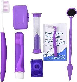 Angzhili Portable Orthodontic Toothbrush Kit for Orthodontic Patient Orthodontic Care Kit for Braces Interdental Brush Den...