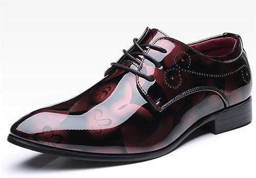 RENHommes Les Hommes de Grande Taille Ont pointé des Chaussures Chaussures de Mode en Cuir Chaussures de Mode Chaussures 37-49  assurance qualité