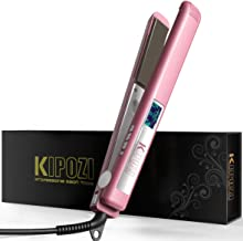 KIPOZI Hair Straightener 1 Inch Titanium Plates Professional Flat Iron with Adjustable..