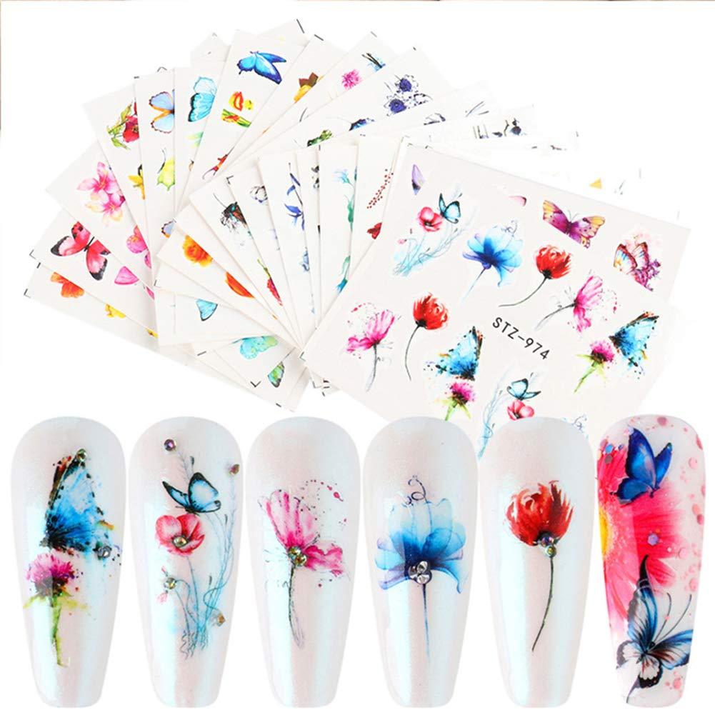 18sheet butterfly Same day shipping flower art [Alternative dealer] nail design char DIY female sticker
