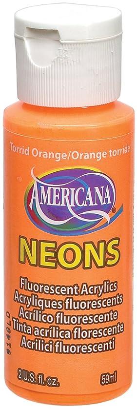 DecoArt Americana Neon's Paint, 2-Ounce, Torrid Orange