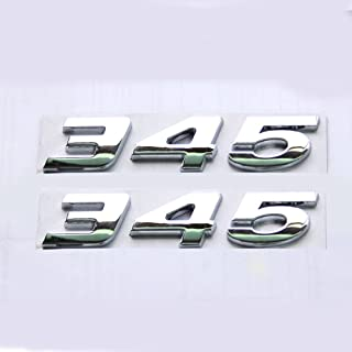 Yoaoo 2x OEM Chrome 345 Emblem Badge Alloy Decal 3d Logo Replacement for HEMI Challenger Chrysle (Chrome)
