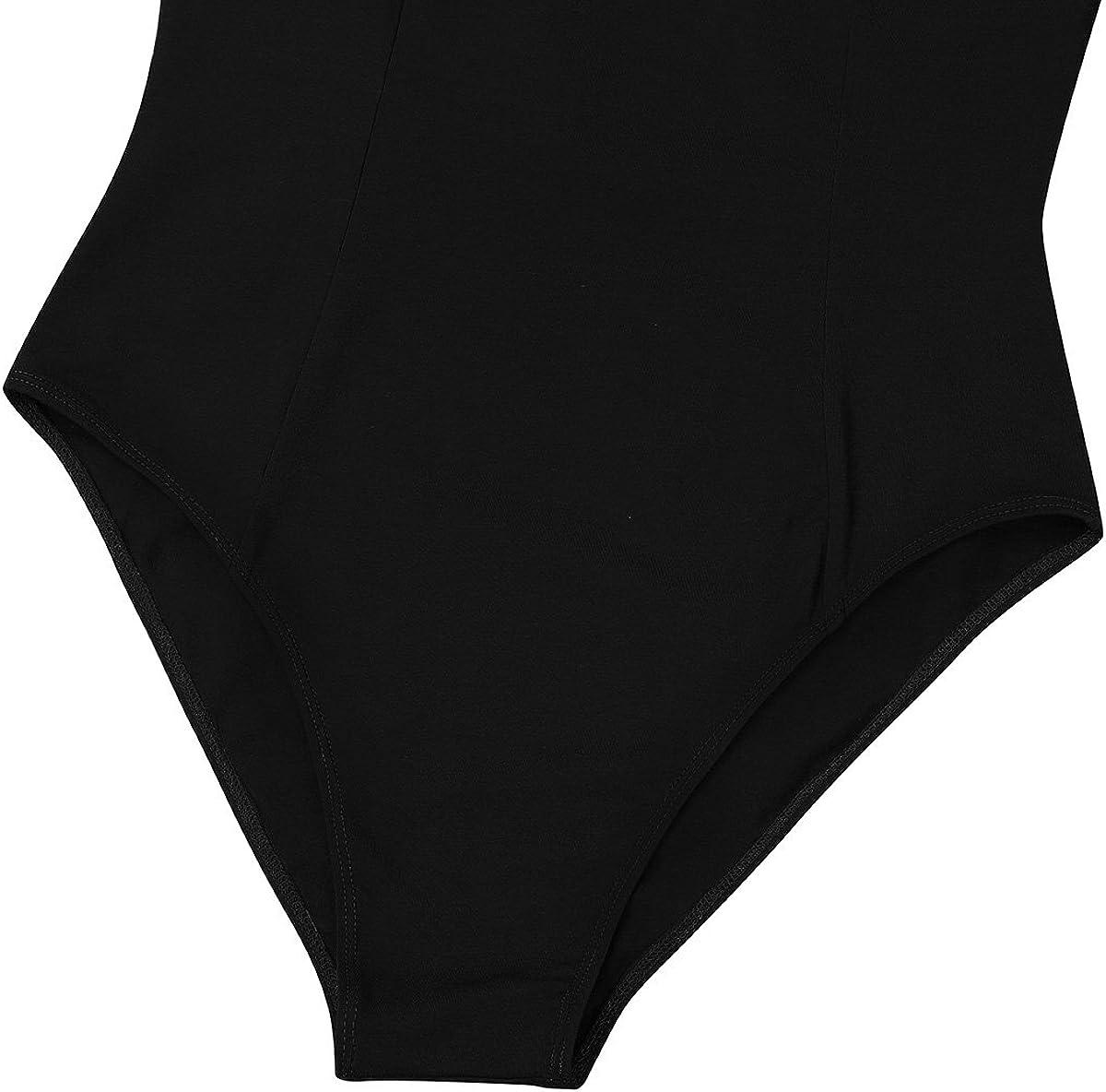 Aislor Womens Criss Cross Back Camisole Ballet Dance Leotard V-Neck Spaghetti Straps Bodysuit Dancewear