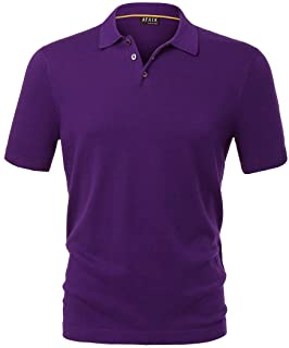 AFAIK As Far As I Know - Men's Polo Shirt Short Sleeve 100% Combed USA Cotton 3 Real Shell Buttons Jersey Stitch Knit