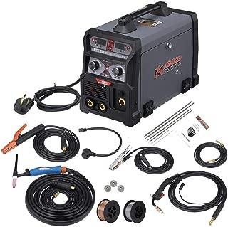 205 Amp MIG/TIG-Torch/Stick Arc Combo Welder, Weld Aluminum(MIG) 110/230V Dual Voltage Welding New