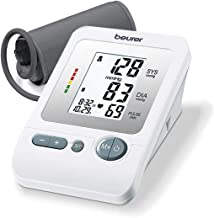 Beurer Automatic Blood Pressure Monitor, Blood Pressure Monitor Cuff, LCD Display, Detects Irregular Heartbeat, 4 Users, BM26