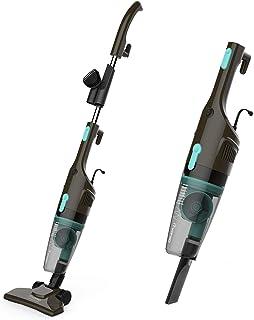 iTvanilaスティック掃除機、超軽量のコード付き掃除機、スティックとハンドヘルドの2イン1バッグレス掃除機を15Kpaで硬い床のためのペットの髪の毛の掃除(黒)