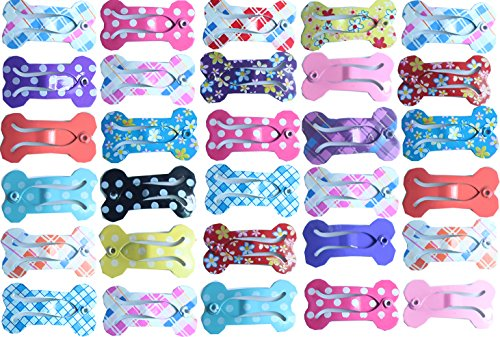 yagopet 20pcs/Pack Puppy Cat Dog Hair Bows with Clips 1
