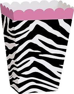 Zebra Print Popcorn Treat Boxes, 8ct