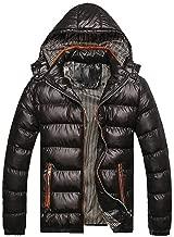 MODOQO Men's Down Parka Packable Coat Casual Solid Zipper Hoodies Jacket with Pocket