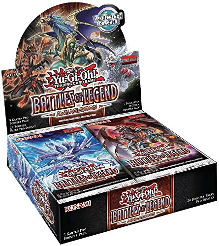 A YuGiOh! Battles of Legend: Armageddon Booster Display | DEUTSCHE Ausgabe | NEU & OVP | Yu-Gi-Oh Karten | + Arkero-G 100 Small Soft Sleeves