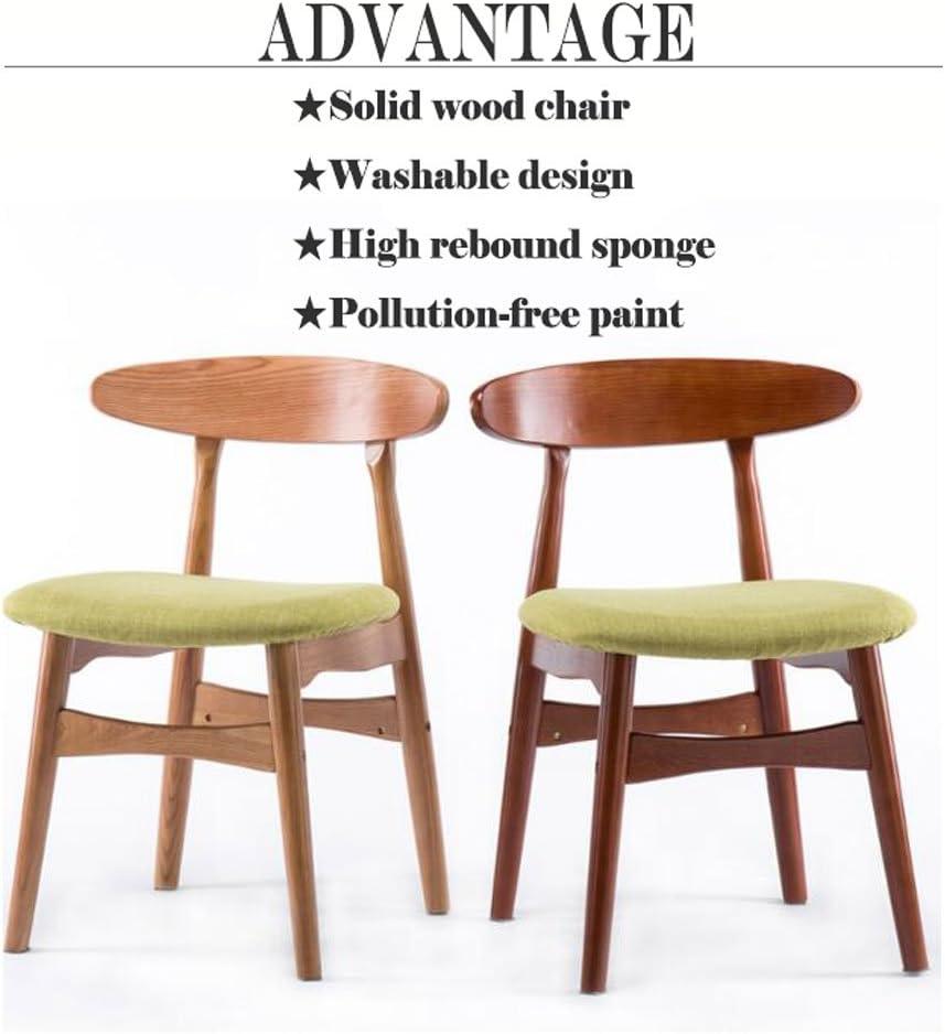 HXF- Solide Chaise en Bois Dossier Simple Ménage Restaurant À Manger Chaise Chaise de Bureau Occasionnel Thé Boutique Café Tables Et Chaises Durable (Color : C) A