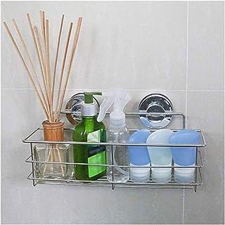 Coupes d'aspiration compacte for douche, baignoire étagère, Antirouille en acier inoxydable Rectangle Panier de rangement ...