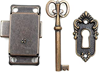 LICTOP Cabinet Cupboard Decorative Lock Case Box Lock with Key(1 Set)