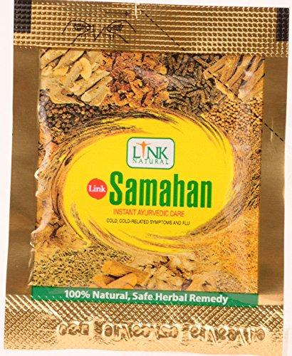 60x (6x 10x 4g) Samahan – ayurvedisches Kräuter-Instantgetränk aus Sri Lanka. Zur Behandlung von Grippe und Erkältungen. Unterstützt das Immunsystem.