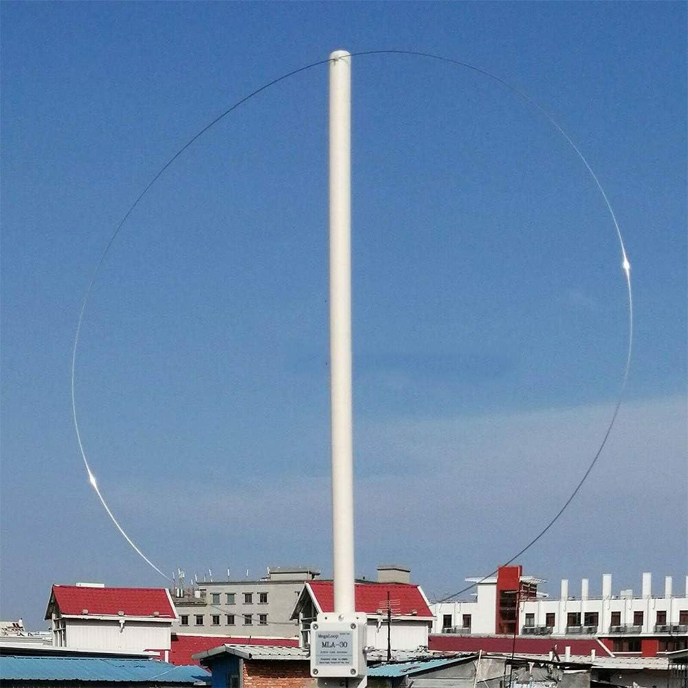 MLA-30 Antena de recepci/ón activa de 100 kHz a 30 MHz para radio de onda corta a prueba de lluvia
