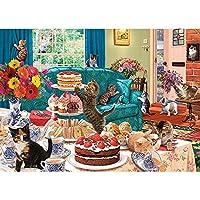 1500ピース木製ジグソーパズル大人減圧レジャー-クレイジーキャット-子供の教育パズル・男の子と女の子への誕生日プレゼント