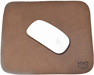 Thick Leather Durable Mouse Pad/Office Essentials Handmade by Hide & Drink :: Bourbon Brown