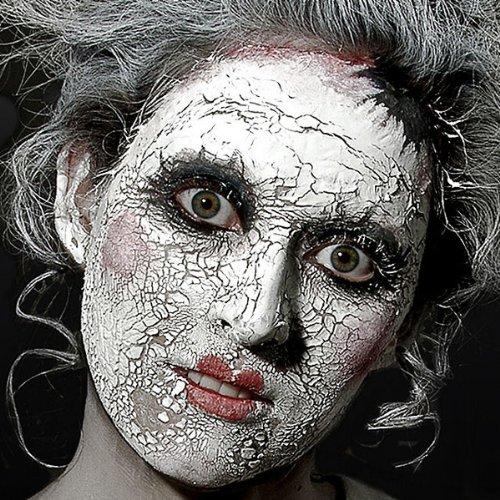 Scary Skin weiß - Spezialeffekt Halloween Schminke rissige Haut - 56,75 g