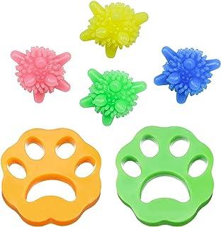 Yisscen Depiladora de mascotas,Depiladora de mascotas de 2 piezas Bolas de lavandería de 4 piezas, Filtros de pelusa de re...