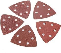 Akozon Sander Pads 101Pcs Triangle Sanding Set 20,60,80,120,180,240 Sandpaper Sanding Discs For Bosch Fein Oscillating Multi Tool Cutting Cutter Pad