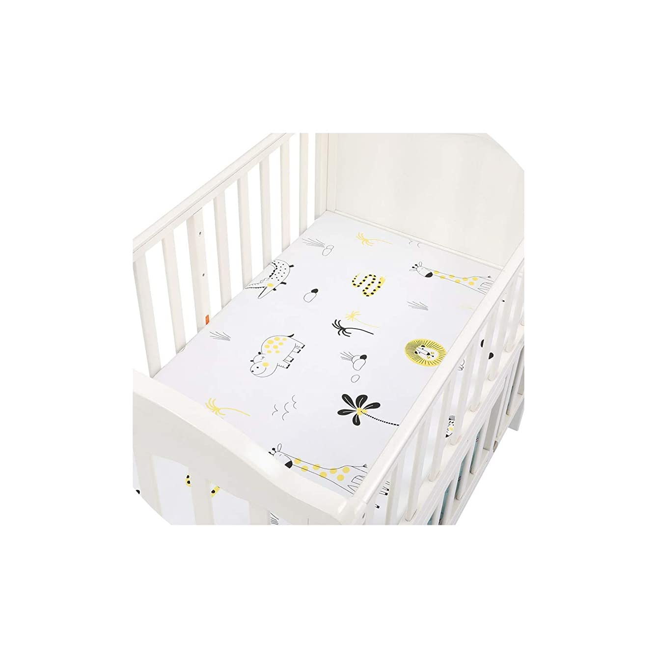 Alex Kuts Cotton Crib Fitted Sheets Soft Baby Bed Mattress Covers Print Bedding Set,25 xgkask819977