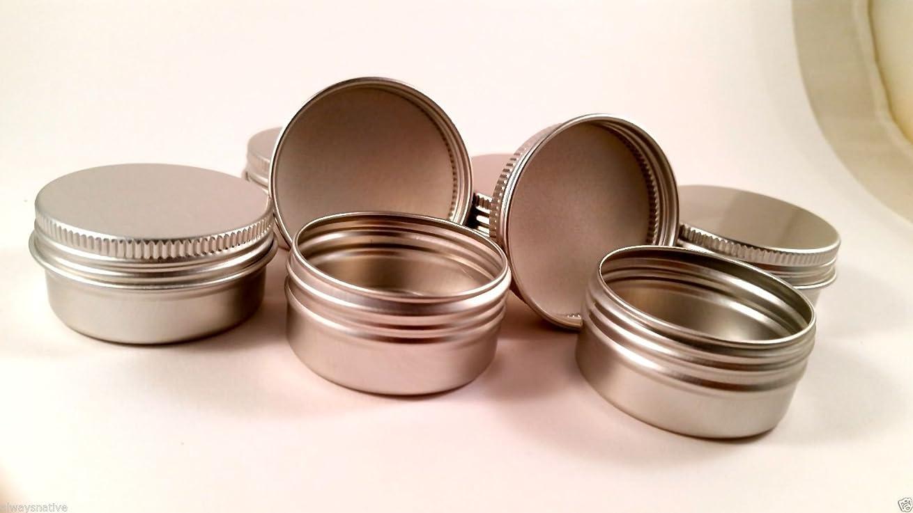 Screw Top Round Steel Tins, 1/2oz (24 Per Pack)
