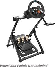ایستاده چرخ فرمان فرمان مخصوص بازی Marada Racing قابل تنظیم برای Logitech G25، G27، G29، G920 Driving Simulator Driving Wheel Wheel Standal and Pedals نیست