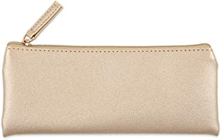 Large Capacity Pencil Case for Boys and Girls Pencil Bag Female Hand Bag Cosmetic Bag Pencil Case Simple Large Capacity Student (Color : Gold)